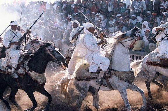 Ewenke horsemen demonstrate horsemanship