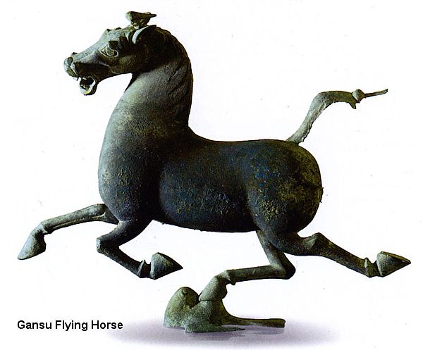 Gansu Flying Horse was probably a depiction of a Ferghana horse