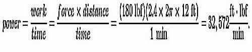formula for horsepower