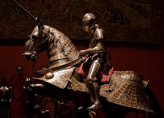 Tooled leather horse armor